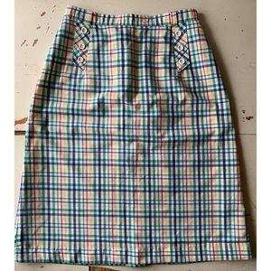 vintage :Salem USA: plaid pencil skirt